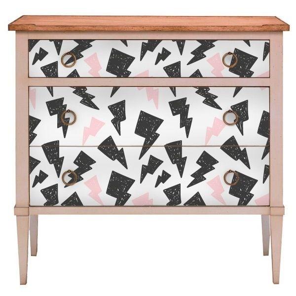 Vinilo rayos para muebles murales personalizados - Vinilos decorativos para muebles ...