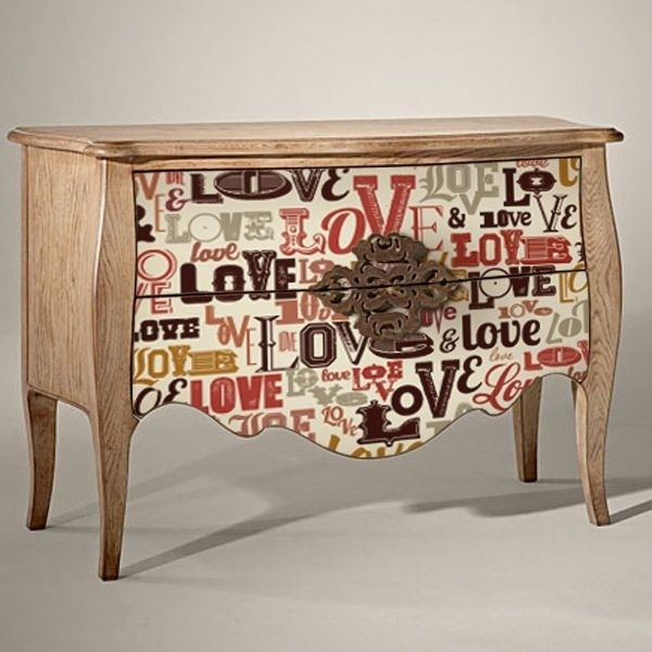 Adhesivo decorativo love vintage