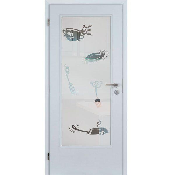 Vinilo puerta utensilios de cocina