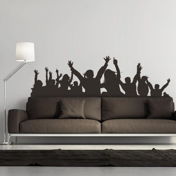 Adhesivo gente bailando