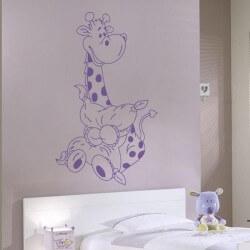 Vinilo jirafa infantil