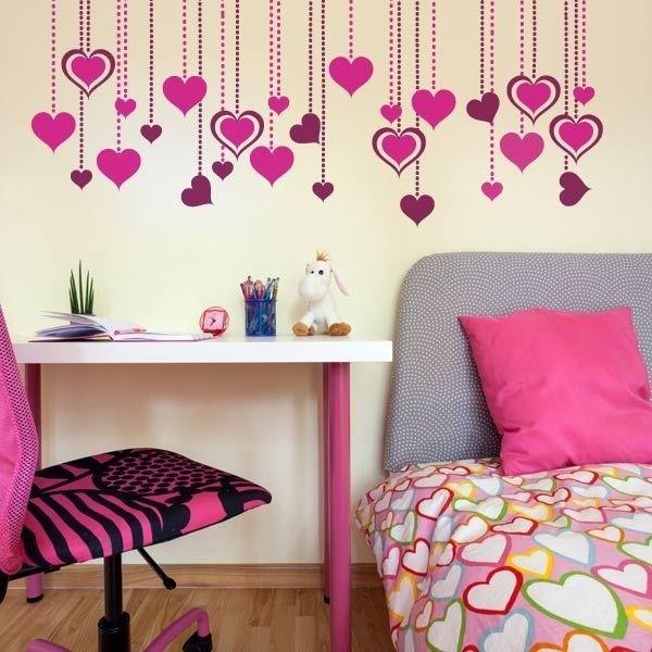 Vinilos decorativos corazones murales personalizados - Vinilos personalizados pared ...