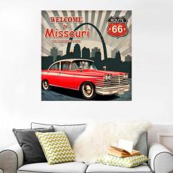 Poster vintage ciudad Missouri