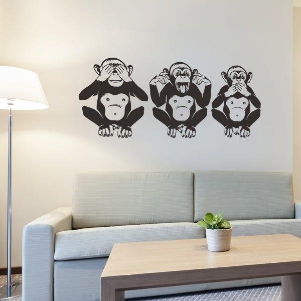 Vinilo tres monos