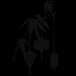 Vinilo rama con farolas