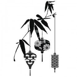 Vinilo decorativo rama con farolas adhesivos de pared - Farolas de pared ...