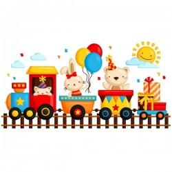 Vinilo tren infantil