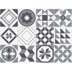Azulejo adhesivo en blanco y negro