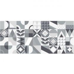 Azulejo moderno en blanco y negro