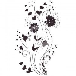 Pegatina flor de corazones