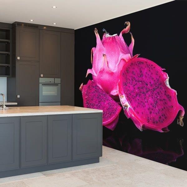 Mural decorativo fruta del dragón