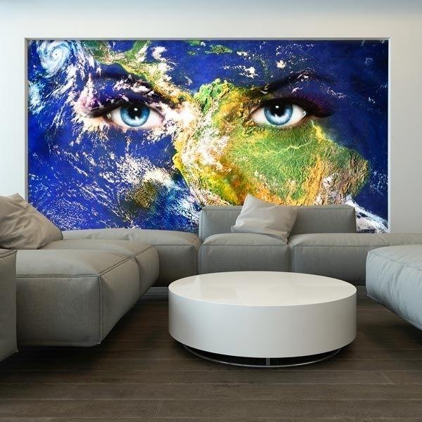 Mural en vinilo ojos en la Tierra