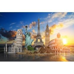 Mural monumentos del mundo