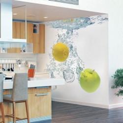 Mural en vinilo agua con frutas