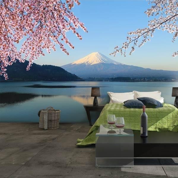 Mural en vinilo lago Ashinoko