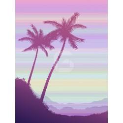 Adhesivo ilustración de palmera