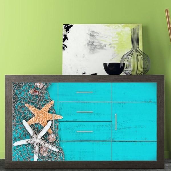 Vinilo muebles estrellas del mar