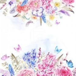 Lamina adhesiva pintura de flores