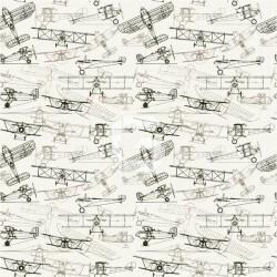 Vinilo mesillas boceto de avionetas
