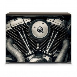 Vinilo muebles motor Harley...