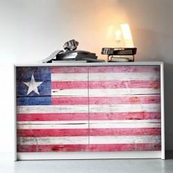 Adhesivo muebles bandera de Liberia