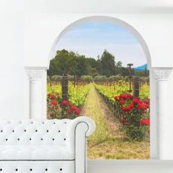 Vinilo de trampantojo viña