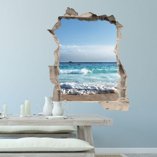 Vinilo de trampantojo playa