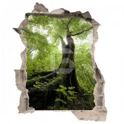 Adhesivo de trampantojo árbol