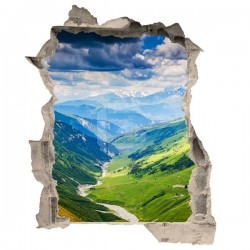 Vinilo de trampantojo montañas