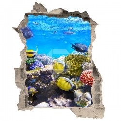 Adhesivo de trampantojo peces