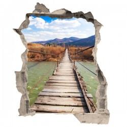 Vinilo de trampantojo puente