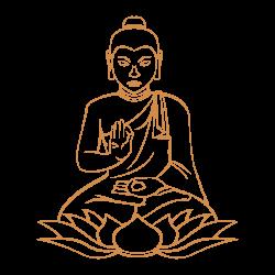 Adhesivo de pared budismo