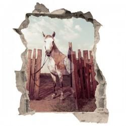 Vinilo de trampantojo caballo