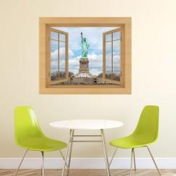 Vinilo ventana Estatua Libertad