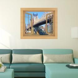 Vinilo ventana puente Queensboro