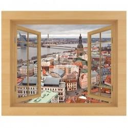 Vinilo decorativo ventana Letonia