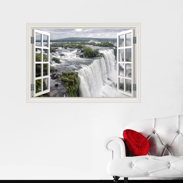 Vinilo ventana cascadas Niagara