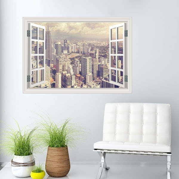 Adhesivo ventana Torres Petronas