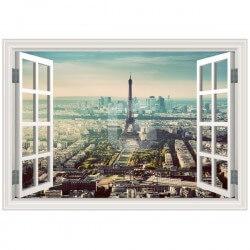 Vinilo ventana ciudad Paris