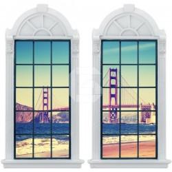 Vinilo ventana Puente Golden Gate