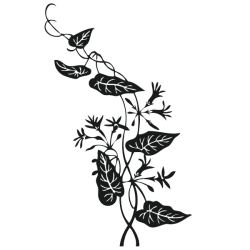 Vinilo adhesivo rama con flor 1