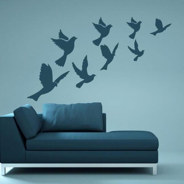 Vinilo decorativo de palomas