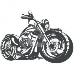 Vinilo moto chopper