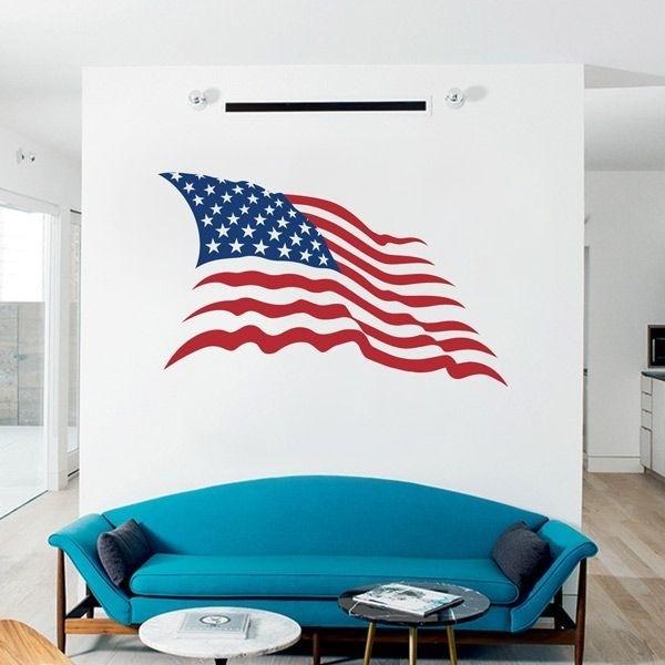 Vinilo de bandera Estados Unidos