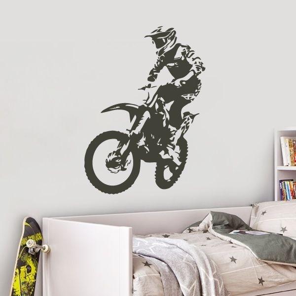Vinilo decorativo de motocross