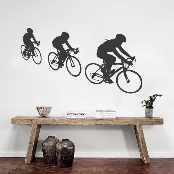 Vinilo adhesivo ciclistas