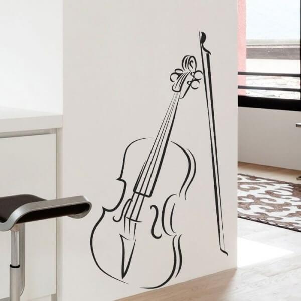 Vinilo de música con violín