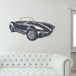 Vinilo de pared coche cobra