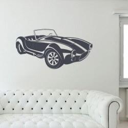 Vinilo de pared coche cobra