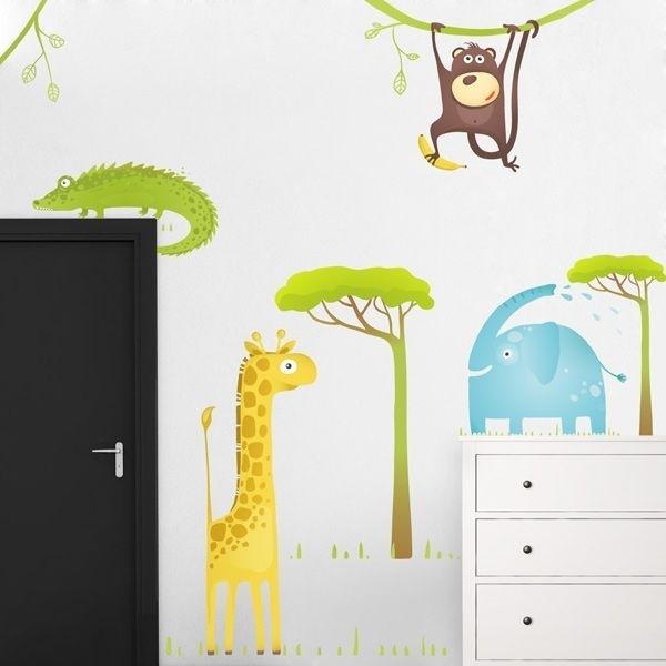 Adhesivo animales de la selva 1